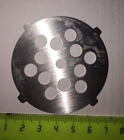 VS060 Решетка 8мм для мясорубок Vitek D=60мм, толщина 2мм - фото 19718