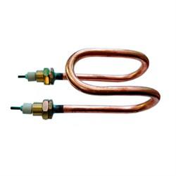 ТЭН 2,0 кВт дистилятора L=140 мм - медн. М18 с гайк. (тип 60 А11/2,0 220 ф10) - фото 22309