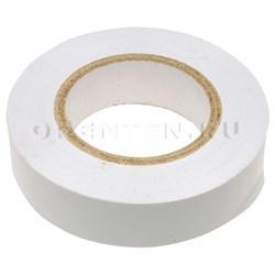Изолента ПВХ, 15 мм х 10 м, белая / СИБТЕХ - фото 5269
