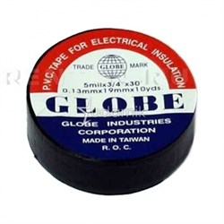 Изолента GLOBE чёрная /10/500/ - фото 5273