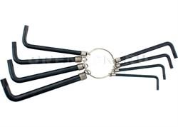 Набор ключей имбусовых TORX 9шт. Т10, 15,20,25,27,30,40,45,50, оксидированные, на кольце//SPARTA - фото 5318