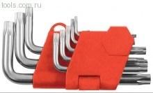 """Ключи """"Torx"""", набор 8шт. в пластиковой коробке (Т9-Т40.) (КФ) - фото 5334"""