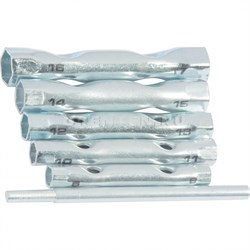 Набор ключей-трубок торцевых, 8 х 17 мм, вороток, оцинкованные, 6шт. // SPARTA - фото 5401