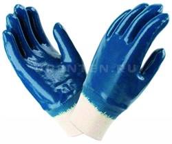 Перчатки синии резиновые от С.Бергмана - фото 5491