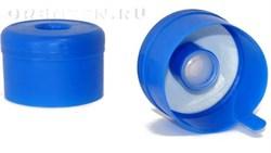 Пробка синяя с клапаном с этикеткой/500 - фото 5642