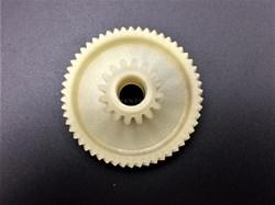 Шестерня двигателя для мясорубки (Д-46/17 мм, зубья 54/16 шт, косой/прямой) - фото 8546