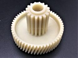 Шестерня с металлической вставкой для мясорубки (Д-45/17 мм, зубья 54/16 шт, косой/прямой) - фото 8552