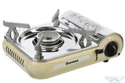 Газовая плита ЕРМАК лепестковая, пьезо, под цанговый баллон, 1,3 кВт кейс, 15х15х12 см - фото 9086