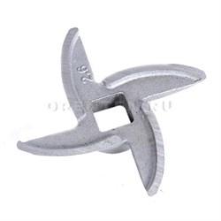 MRZ004 Нож хромированный для российских электрических и механических мясорубок - фото 9168
