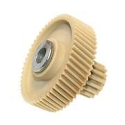 Шестерня с металлической вставкой для мясорубок Vitek/Dex, Д-51,5/22 мм, зубья 53/16 шт.H-49 мм (Косой/прямой)