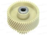 Шестерня с металлической вставкой для мясорубок Vitek/Panasonic/Dex, Д-52/22 мм, зубья 47/16 шт. (Косой/прямой)