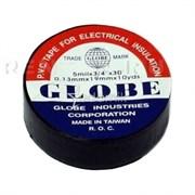 Изолента GLOBE чёрная /10/500/