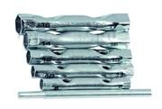 Набор ключей-трубок торцевых, 8 х 17 мм, вороток, сталь, 6 предметов (Hobbi) (уп.)