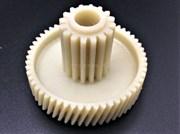 Шестерня с металлической вставкой для мясорубки (Д-45/17 мм, зубья 54/16 шт, косой/прямой)
